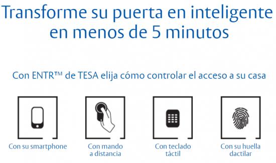 Controla la cerradura de tu casa o empresa con el móvil ENTR TESA