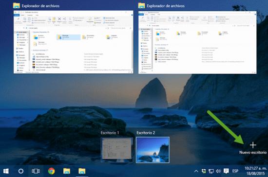 Crear varios escritorios simltáneos en Windows 10 portada